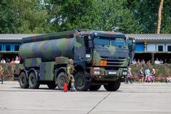 Niemiecki militarny Iveco 8x8 tankowiec Obrazy Stock