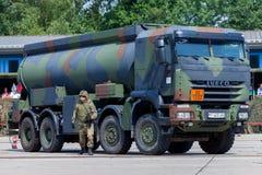 Niemiecki militarny Iveco 8x8 tankowiec Zdjęcie Stock