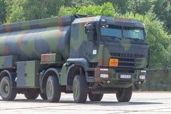 Niemiecki militarny Iveco 8x8 tankowiec Zdjęcie Royalty Free
