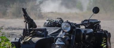 NIEMIECKI MILITARNY motocykl OD drugiej wojny światowa Zdjęcia Stock
