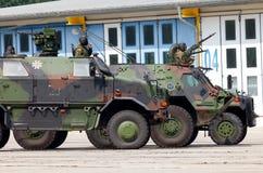 Niemiecki militarny wojsko konwój Obraz Stock