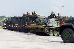 Niemiecki militarny wojsko konwój Fotografia Royalty Free