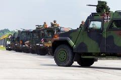 Niemiecki militarny wojsko konwój Obraz Royalty Free
