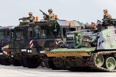 Niemiecki militarny wojsko konwój Zdjęcie Stock