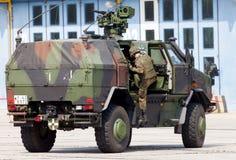 Niemiecki opancerzony militarny piechoty ruchliwości pojazd, ATF dingo Obrazy Stock