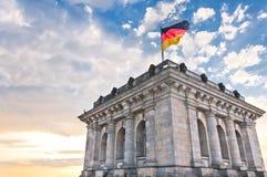 Niemiecki parlament lub Bundestag w Berlin Zdjęcia Royalty Free