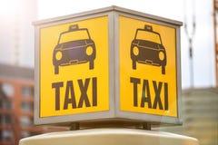 Niemiecki rocznika taxi znak Zdjęcie Stock