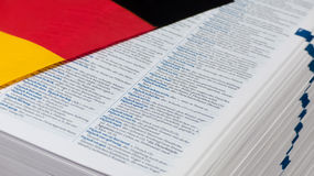 Niemiecki słownik Zdjęcia Royalty Free