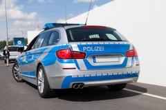 Niemiecki samochód policyjny Obraz Royalty Free