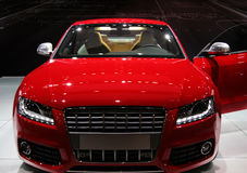 niemiecki samochód sportu Obrazy Royalty Free