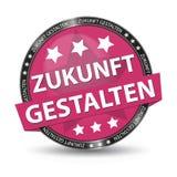 Niemiecki sieć guzik - przekład: Kształtuje przyszłość - Wektorowa ilustracja Obrazy Stock