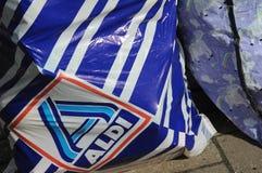 NIEMIECKI sklepu spożywczego łańcuch ALDI Fotografia Stock