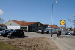 NIEMIECKI sklepu spożywczego łańcuch LIDL Zdjęcie Royalty Free