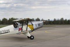 Niemiecki stażowego samolotu BÃ ¼ cker BÃ ¼ 131 Jungmann używać Luftwaffe podczas drugiej wojny światowa Fotografia Royalty Free