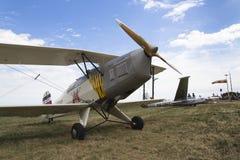 Niemiecki stażowego samolotu BÃ ¼ cker BÃ ¼ 131 Jungmann używać Luftwaffe podczas drugiej wojny światowa Obrazy Stock