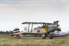 Niemiecki stażowego samolotu BÃ ¼ cker BÃ ¼ 131 Jungmann używać Luftwaffe podczas drugiej wojny światowa Zdjęcia Stock