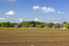 Niemiecki wieś krajobraz, Niski Rhine region Obraz Stock