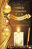 Niemieckiego kartka z pozdrowieniami ` Wesoło boże narodzenia i Szczęśliwy nowego roku ` Fotografia Stock