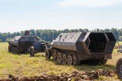 Niemieckiego śladu opancerzony personel SdKfz 250 Zdjęcia Royalty Free