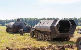 Niemieckiego śladu opancerzony personel SdKfz 250 Obraz Royalty Free