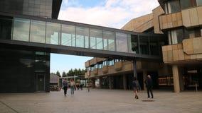 Niemieckiego ulicznego widoku deptaka Szklany pieszy obrazy stock