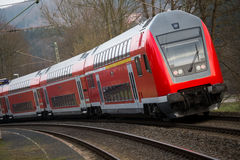 Niemieckiej kolei pociąg pasażerski Fotografia Royalty Free