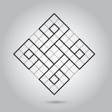 Niemożliwi geometria symbole wektorowi na popielatym tle Święta geometrii signes i symboli/lów wektoru ilustracja modniś obrazy stock