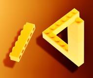 niemożliwy lego Zdjęcia Stock