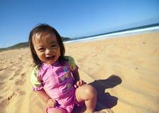 niemowlę plaża Obrazy Royalty Free