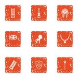 Niemowlęctwo ikony ustawiać, grunge styl ilustracji