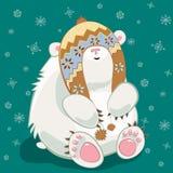 niemowlę biegunowy bear ilustracja wektor