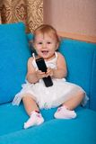 niemowlę telefon Zdjęcie Royalty Free