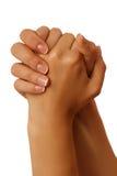 Niemy abecadło przedstawia rękę na białym tle Zdjęcie Royalty Free