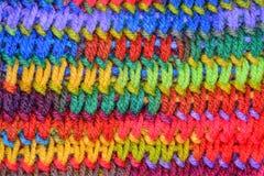 Niemy kolorowy dziewiarskiego ściegu tło Obraz Stock