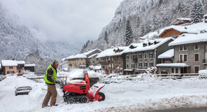 Śnieżna polana Obraz Royalty Free
