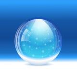 Śnieżna wektor kula ziemska Obraz Royalty Free