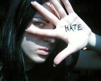nienawiść. fotografia stock
