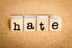 Nienawiść - abecadeł Stemplowi pojęcia Zdjęcie Royalty Free