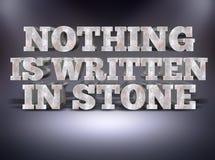 Niente è scritto nel messaggio di pietra di concetto con il fondo dello studio Immagini Stock Libere da Diritti