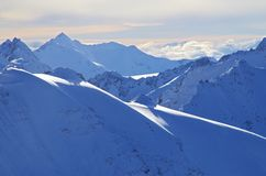 Śnieżny góra krajobraz Obraz Stock