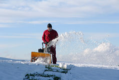 Śnieżny usunięcie Zdjęcie Stock