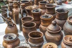 Nieociosana ceramiczna praca ceramika Fotografia Royalty Free