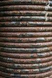 Nieociosana Czarna metal wiosny zwitki tekstura Zdjęcia Stock