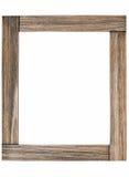 Nieociosana drewniana fotografii rama obrazy royalty free