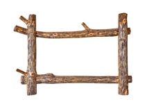 Nieociosana drewniana rama obrazy royalty free