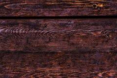 Nieociosana drewniana tekstura, ciemne czekolad deski zdjęcie royalty free