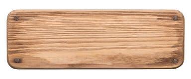 Nieociosana drewno deska z gwoździami Zdjęcia Stock