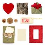 Nieociosana miłości scrapbook elementów kolekcja ja Zdjęcie Stock