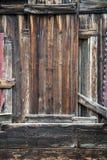 Nieociosana stajni drewna ściana zdjęcia royalty free