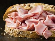 Nieociosana włoska mortadella kanapka Obraz Stock